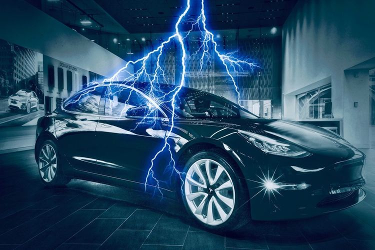 Tesla Model 3 the future of mass electric vehicles.... Urban Cyanotype Car Photography Tesla Model 3 Tesla Lightening Automotive Automobile Transportation Motor Vehicle Mode Of Transportation Car Land Vehicle No People Architecture Built Structure Garage Wheel Stationary Indoors
