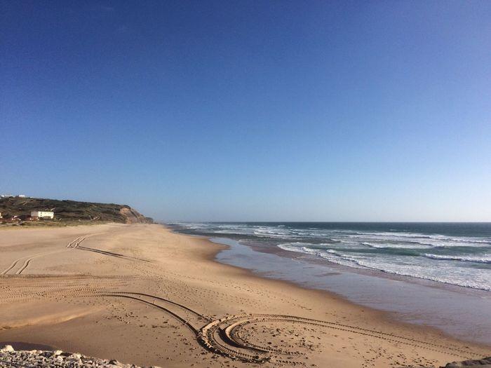 Coast portugal SIlver Coast Portugal Beach Seaside Sea Sand Patterns