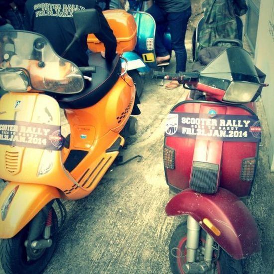 Vespa Bopscoot Rally Morning at garut
