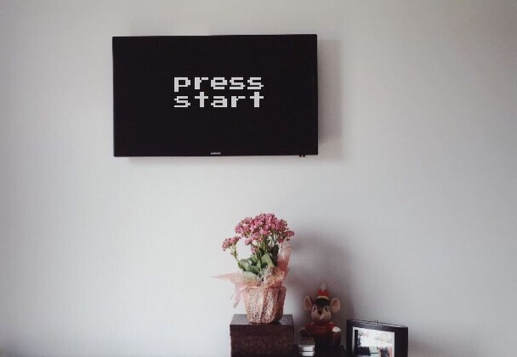 Press Press Start Taking Pictures Flower Television No People Photography Home Cute Don't Care Teddybear