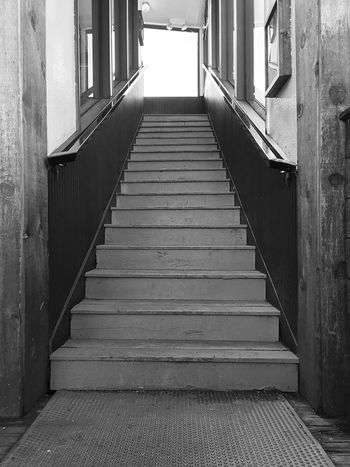 Going Up in B&W Architecture Built Structure Day Indoors  Low Angle View No People Old Buiding Open Edit Railing Staircase Stairs Steps Steps And Staircases The Way Forward Up