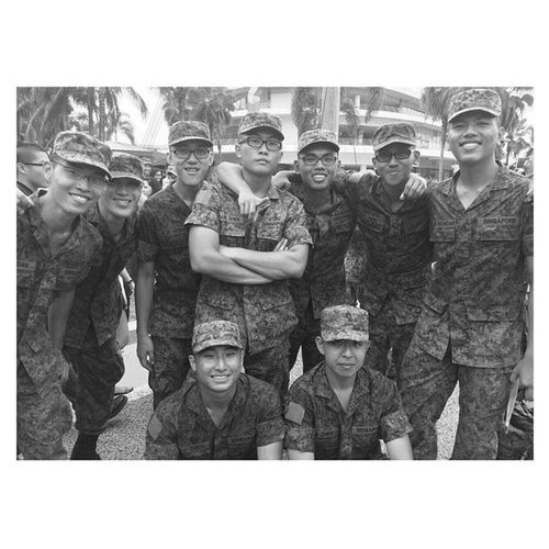 """""""We've our own fair of jokes which others would never see that side of us."""" 11-October-2014 Mohawk PLT2 Smallestsectionever Lifeofarecruit POPlo"""