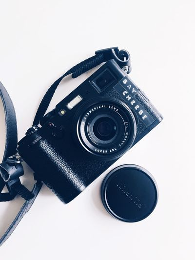 Say Cheese EyeEm Selects Indoors  Technology Photography Themes Close-up White Background Camera - Photographic Equipment No People Still Life Photographic Equipment Camera Single Object Studio Shot Retro Styled Equipment Digital Camera SLR Camera