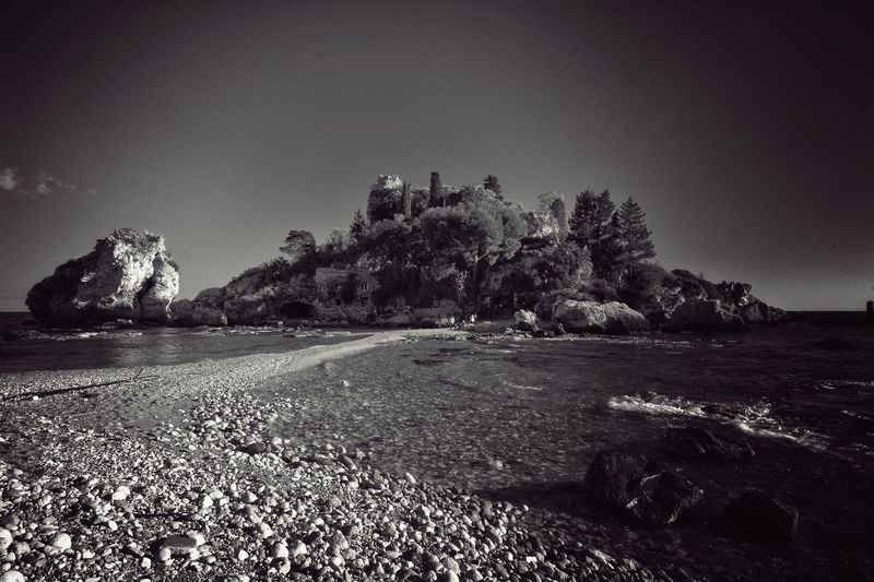 Isola Bella Taormina Beach Island Nature No People Outdoors Rock - Object Sea Tranquil Scene Tranquility Waling Around