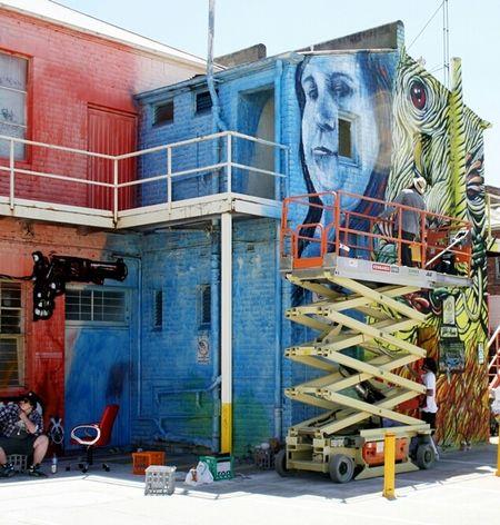 Graffiti Streetart Work In Progress