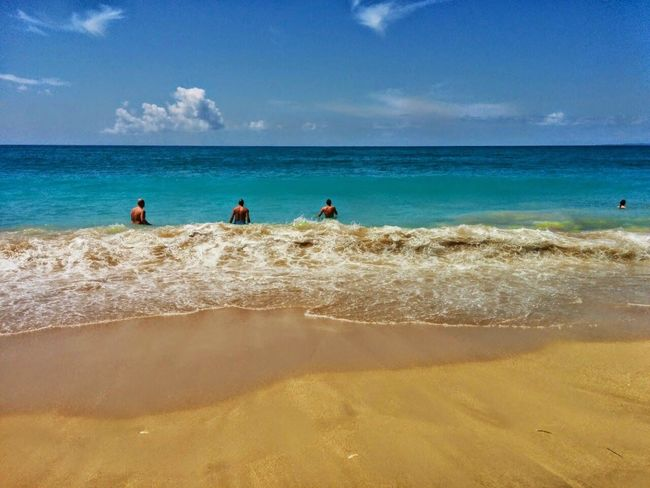 Sea Beach Sand Horizon Over Water Sky Water Shadow Outdoors People Day Wave Adult Nature Adults Only Vrachos Vrachos Beach Loutsa Loutsa Beach