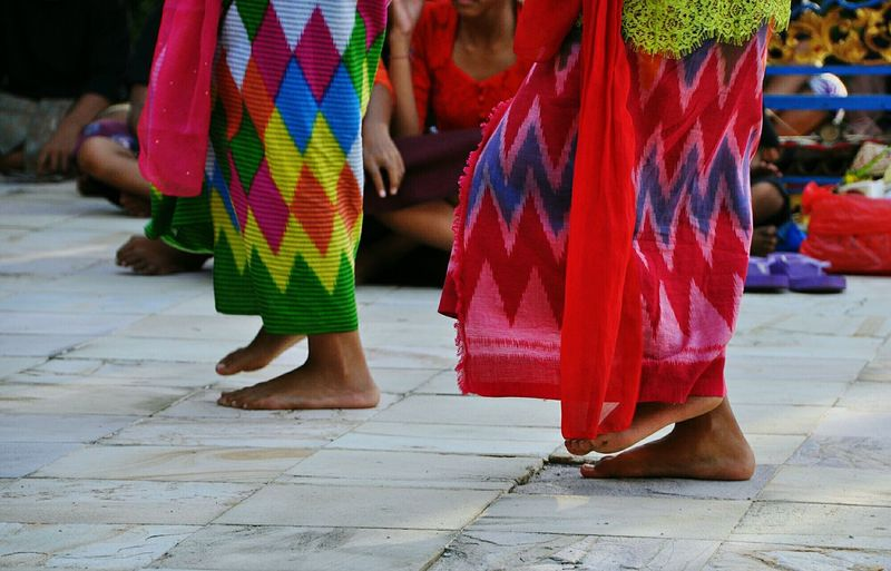 Low section of dancers performing at traditional event