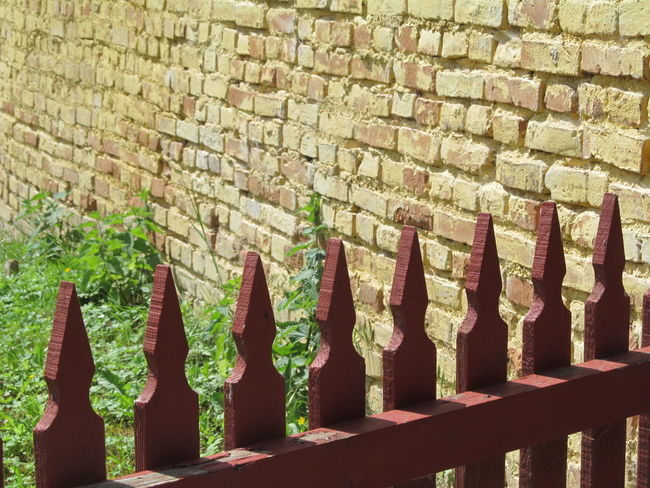 Day Fence Outdoors Pattern Stone Material Stone Wall Wall - Building Feature Wooden Fence