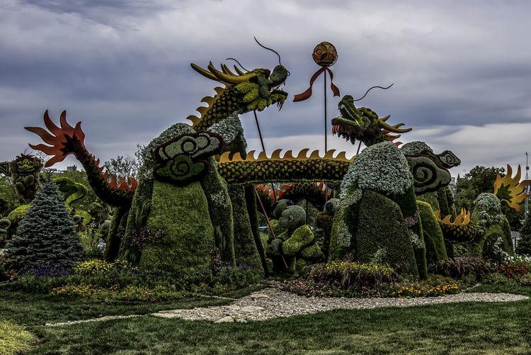 Canada150 Dragons Gatineau Ontario Ottawa Quebec Canada China Flowers Mosiac