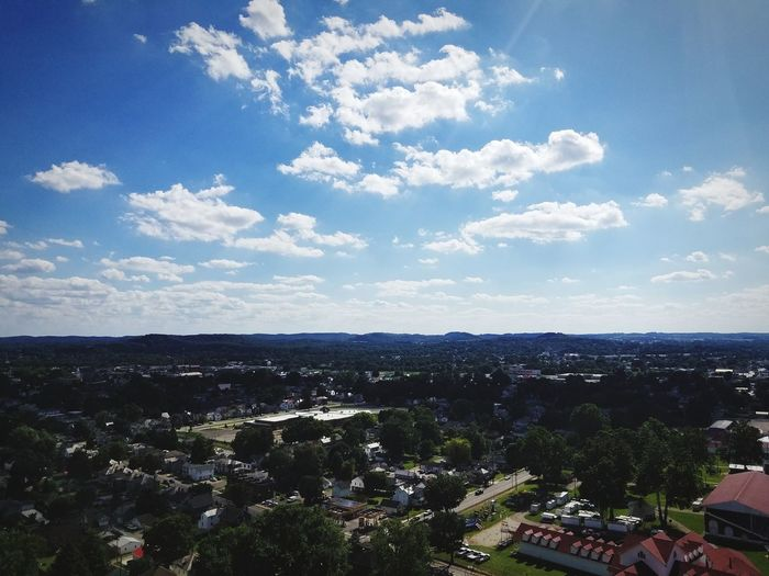 A beautiful view of the city of Lancaster in Ohio. Cityscape High Angle View Cloud - Sky Downtown District Community Landscape Building Exterior Architecture Urban Skyline City Town