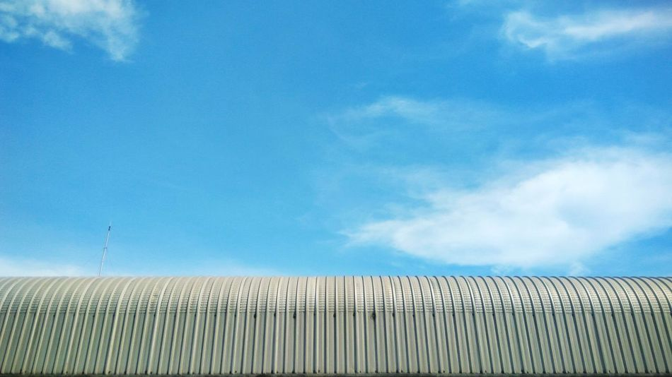Zinc roof with blue sky background Zinc Roof Roof Blue Sky Background Fresh Texture Pattern Blue Agriculture Sky Cloud - Sky