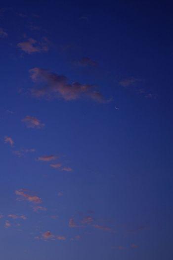 月_e_miray Crescent Moon 月 Moon 朝焼け Sky 空 優しい空 早朝 細い月