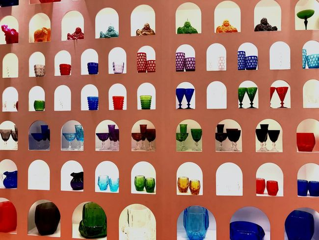 Acrylic Art Glasses ACRYLICART No People Arrangement Full Frame In A Row Backgrounds Day