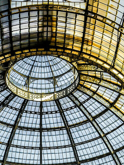 The Dome was taken at the GalleriaVittorioEmanueleII located in Milan or Milano Italy as the Italians and European  folks call it. Blue Sky Outside the Dome Weathered Glass and Rusted Steel Framed Create Beautiful Drama Italia Traveling Travel Travel Photography Architecture Ronlouisphotos