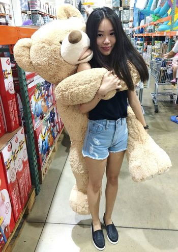 This bear though <3 Teddybear Costco Hug Teddy Piggyback