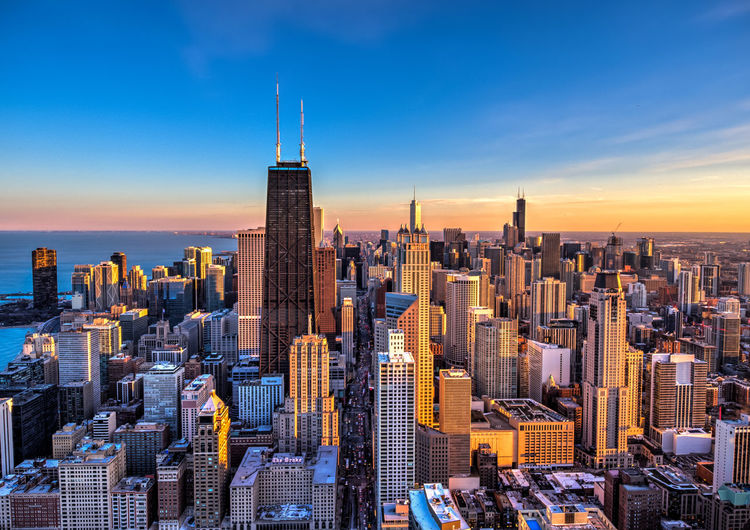 Sunset of Chicago Sunrise Chicago Architecture Chicago Aerial View Drone  Architecture Sunset_collection High Angle View High Rise High Amazing architecture Amazing