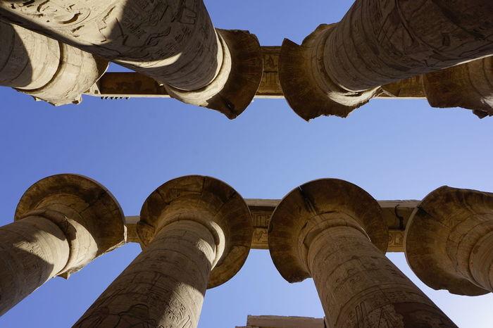 Karnak Temple Egypt Karnak Temple Architecture Built Structure Clear Sky Culture History No People Sky Temple Travel Destinations