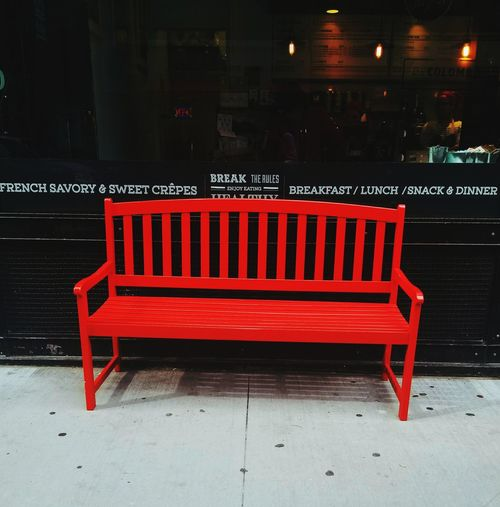 Red Redchair Seat Resting Restaurants Outdoors No People EyeEmNewHere