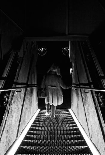 Black & White Illusion Into The Dark Out Of The Light Stairway Up Or Down? Upstaires Down