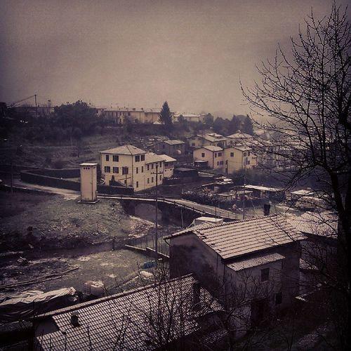 Italy Tuscany Ghivizzano Snow