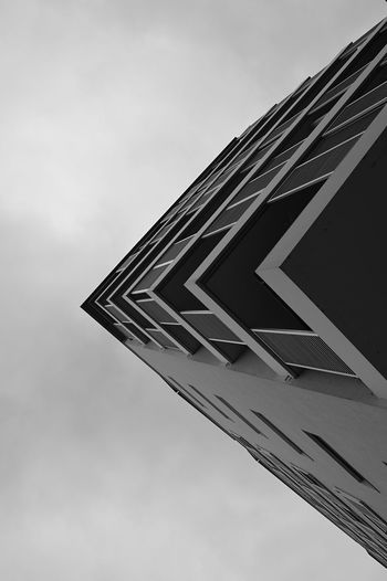 Architecture Built Structure Building Exterior Architectural Feature Cloudy No People Angleshot Angle Angles And Lines Graphic Architectural Detail Architecturelovers Architecture_collection Architecture Urban Architecture Urban Exploration Urbanphotography Urban Geometry Urban Monocrhome Exceptional Photographs