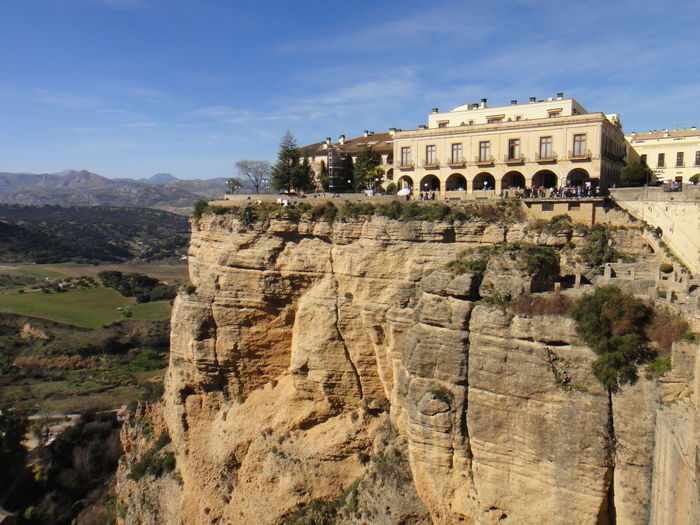 Ronda... Architecture Sky Built Structure History The Past Travel Destinations Ancient Travel Nature Day Tourism Building Exterior Ancient Civilization No People Old Ruin Mountain Outdoors Sunlight Rock City Archaeology Ancient History Scenics Aroundtheworld Landscape