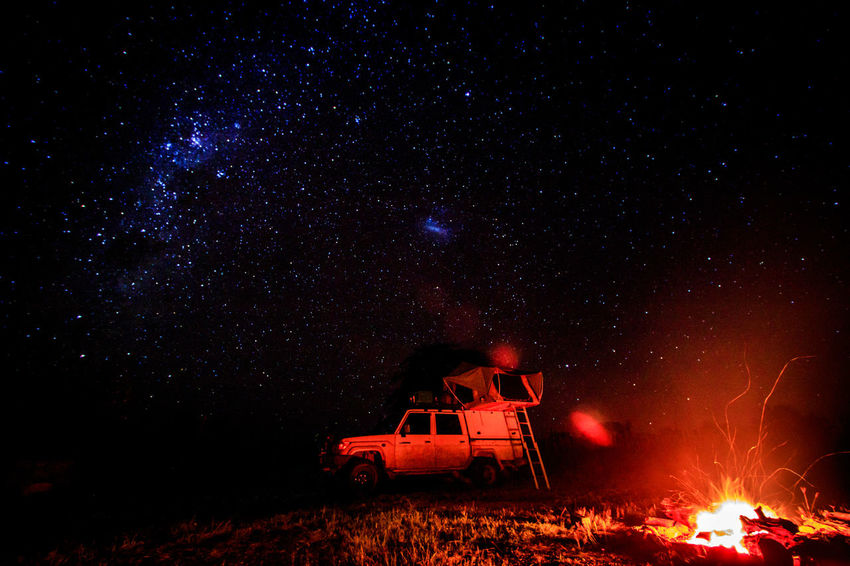 Long exposure shot of the stars and a camp fire while camping in Hwange National Park, Zimbabwe. Campfire Camping Galaxy Landcruiser  Nature Nature Photography Nightphotography Adventure Africa Astronomy Beauty In Nature Campinglife Long Exposure Night Photography Milkyway Night Outdoors Safari Scenics - Nature Sky Space And Astronomy Star Star - Space Stars Tent Toyota Landcruiser Summer Road Tripping