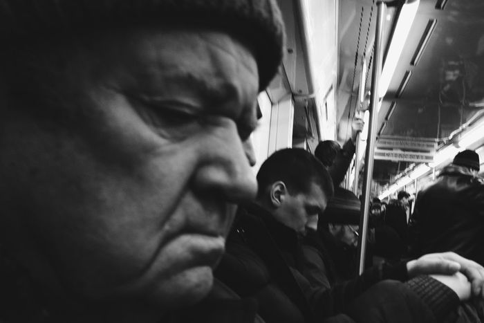 Sleepy Only Men Real People Subway Train Bnw Bnw_collection Bnw_captures Bnw_life Blackandwhite Black & White
