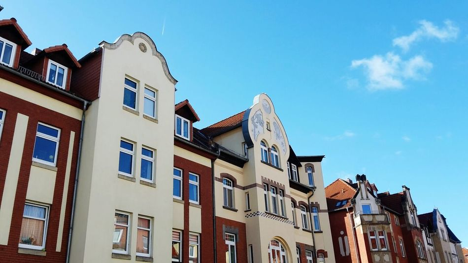 House Sky Residential Building Architecture Beauty No People Medieval Outdoors Day Street Tradition Travel Destinations Building Exterior Roof Clear Sky City Erfurt Windows And Doors Built Structure In A Row Architecture