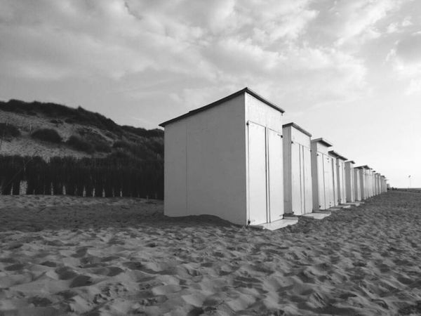 Row Beach Sand Houses Lockers Beachlove Cottage Beachcottages Nature Beautiful Nature Blackandwhite Black & White Landscape The KIOMI Collection Tranquility Traveling Outdoors Coast Coastline Beachphotography Rows Of Things Row Symmetry Evenly The Great Outdoors With Adobe Feel The Journey