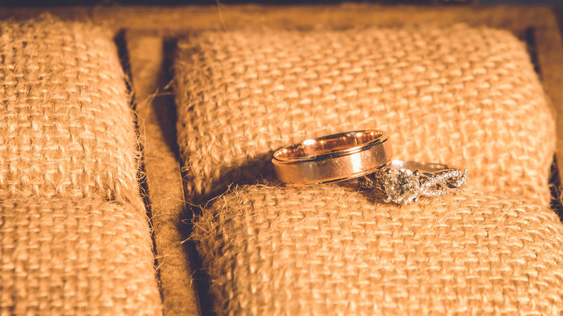 the wedding rings in the wooden box Wedding Wedding Photography Close-up Day Diamond Ring Finger Ring Gold Colored Indoors  Jewelry No People Ring Rings Rings 💍 Wedding Wedding Ceremony Wedding Day Wedding Ring Wedding Ring Photography Wedding Rings