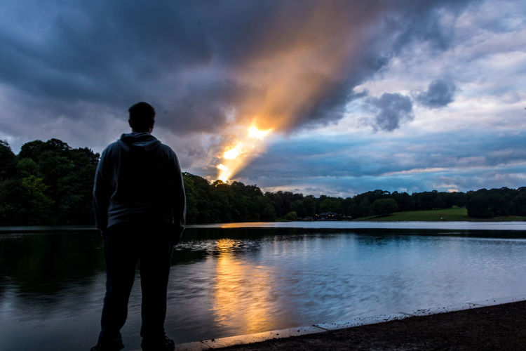 Cloud Cloudy Leeds Man Peace Peaceful Life Quite Canon Canon_photos Lake Liveforthestory Mycanon Peaceful Roundhay Park Shadow Silent Sun Sunlight And Shadow Sunset Waterloo Lake
