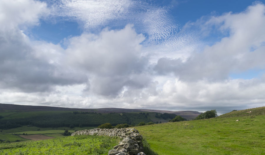Beauty In Nature Cloud - Sky Grass Landscape Nature Outdoors Sky Tranquil Scene Tranquility Yorkshire Walks
