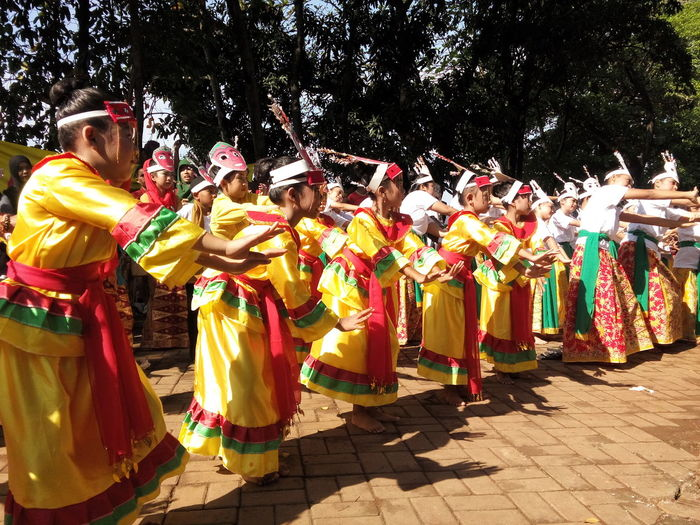 3). Colosal Dance On Street Sunday Mass Traditional Culture Traditional Costume Gathering Kids Dance Observing People