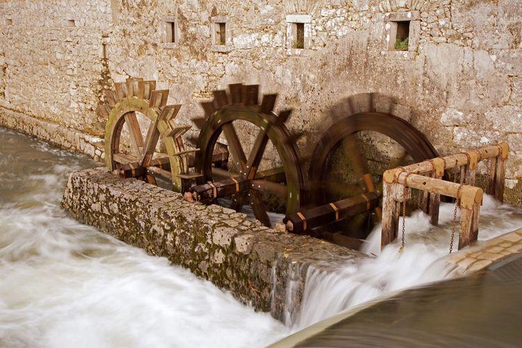 Mill Watermill Water Wheel Postojna Caves