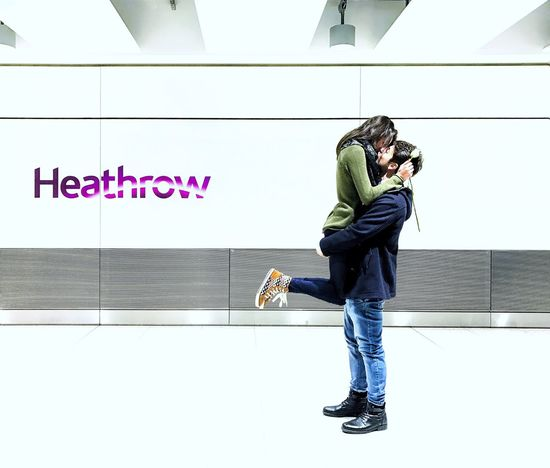 Couple hugging at Heathrow Airport after months apart ❤ Communication Full Length Wireless Technology Mobile Phone Casual Clothing Lifestyles Telephone Smart Phone Portable Information Device Technology Indoors  Connection One Person Real People Day People Young Adult Adult Love Couple London