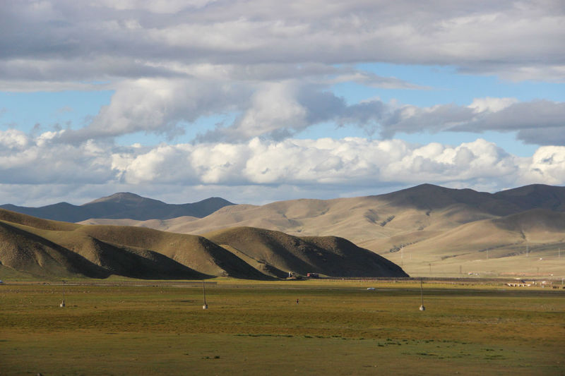 Hills of Mongolia Beauty In Nature Cloud - Sky Day Endless Field Grass Grass Hill Landscape Landscape_photography Landscapes Mammal Mountain Mountain Range Nature Nature No People Outdoors Scenery Scenics Sky Tranquil Scene Tranquility Travel Travel Destinations