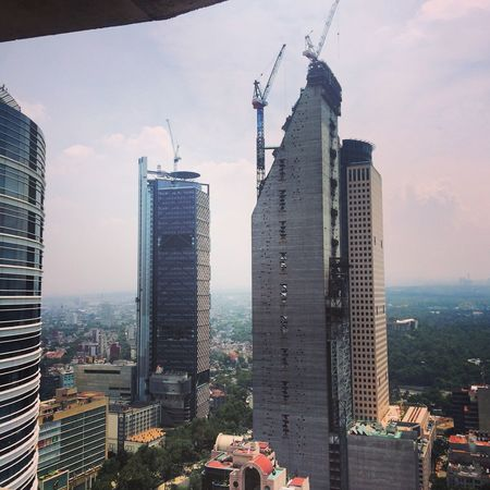 City Skyline Skyline Urban Urban Geometry Construction Architecture Paseo De La Reforma Mexico City Building