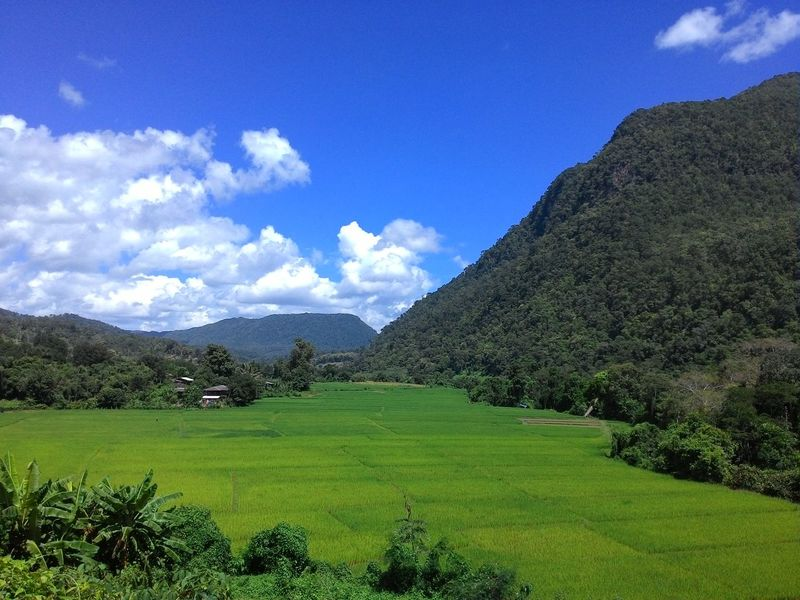 Beauty In Nature Chiang Dao Chiang Mai   Thailand Green Color Miles Away Mountain Rice Paddy Scenics Sky Tranquil Scene