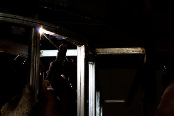 Fire Steel Technician Welder Architecture Argon Dark Diminishing Perspective Engineering Illuminated