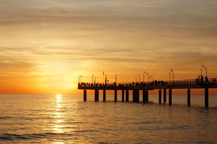 Pier in the golden hour