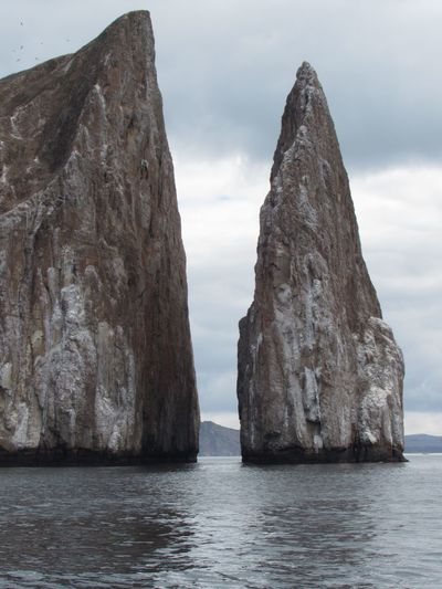 Kicker rock passtrhu Galapagos Sea Nature Sky Water Rock - Object Tranquility No People Scenery Beauty In Nature Scenics Outdoors Day An Eye For Travel Go Higher