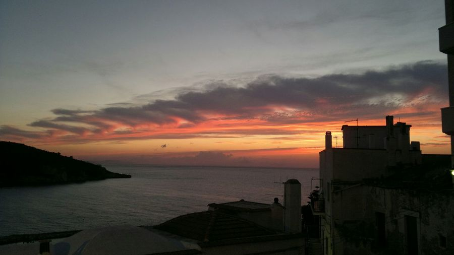 No comment. (only this) Sun Sea Town Sky Night Greece Beautiful Sky Beautiful Place