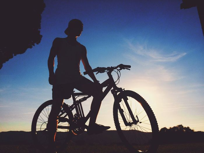Wildlife & Nature Bicycle Cycling Silhouette Sunset Sport Adventure One Person Transportation Lifestyles Mountain Bike Leisure Activity Extreme Sports Riding Low Angle View Men Mountain Outdoors Sky Real People Exercising EyeEmNewHere
