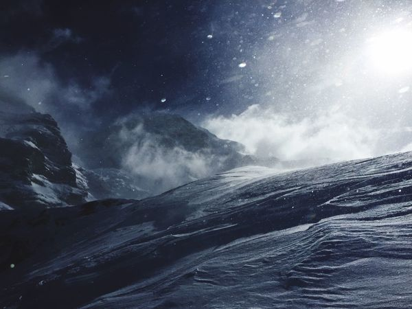 Eiger Skiing Snow Windy Winter