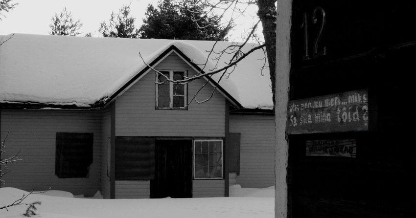 Blackandwhite Eesti Keel Forbidden Haukipudas Kiviniemi Old Buildings Oulu Oulunlääni Property Snow Winter