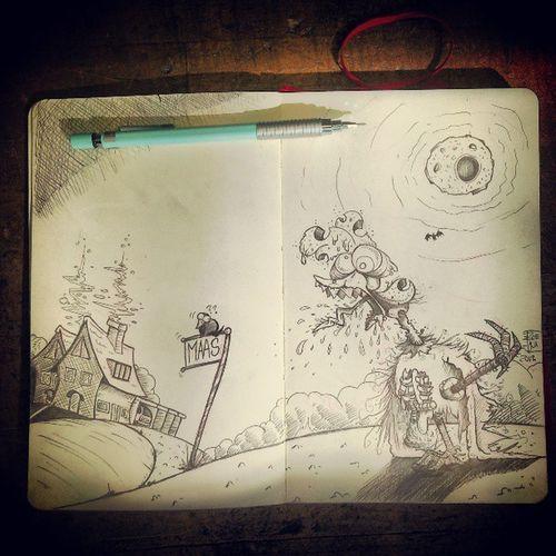 Zombiehahn aus dem Schlachthof, Maas/Husum :)))) Maas Husum Tsbw Zombie hahn tote leiche dead monster chicken Comic cartoon comicarts illustration sketch sketching sketchofday skizzenbuch sketchbook skizzen redpencil pencil arts artwork zoejux