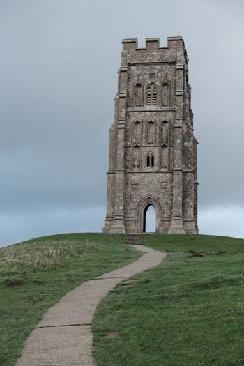 Church on Glastonbury Sky History Architecture The Past Built Structure Travel Destinations Nature Tourism Ancient Travel Arch Cloud - Sky Old Old Ruin Day No People Monument Building Exterior