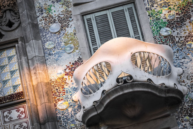 Casa Batllo by Antoni Gaudi architect in Barcelona Catalonia Spain Antoni Gaudí Architecture Architecture Barcelona Batllò Building Building Exterior Built Structure Casa Batllo Catalonia Day Façade Gaudi Landmark Man Made Object Modernism No People Outdoors SPAIN