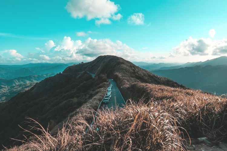 Orange and Teal Mountain Landscape Sky Outdoors Nature Travel Destinations Neighborhood Map EyeEmNewHere The Portraitist - 2017 EyeEm Awards The Great Outdoors - 2017 EyeEm Awards EyeEm Best Edits Lightroom EyeEm Taiwan Lifestyles Nature Day Orangeandteal Orange And Teal Color Grading Color Graded The Photojournalist - 2017 EyeEm Awards Live For The Story